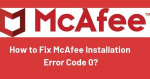 Fix mcafee error 0
