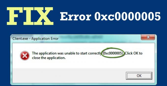 Error Code 0XC0000005 WINDOWS 10 & 7