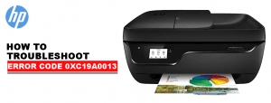 printer Error Code 0xc19a0013