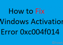 Fix Error Code 0xc004f014 Windows 10