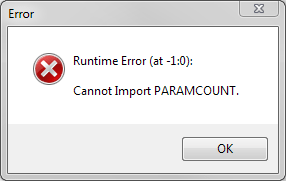 Runtime Error 0