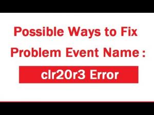 Windows clr20r3 error