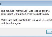 Causes of the Mshtml.dll Error
