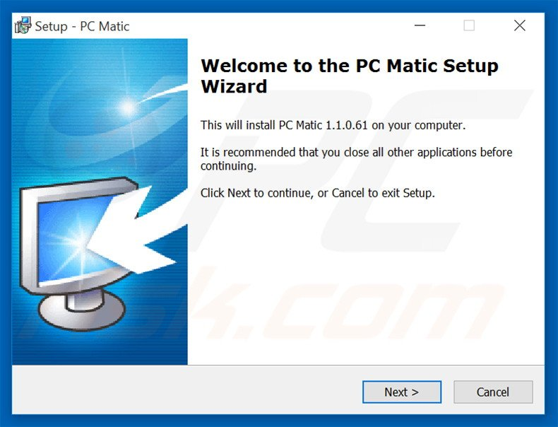 uninstall PC Matic PUP
