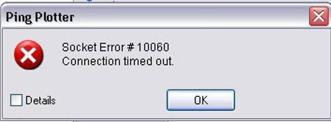 Socket Error 10060