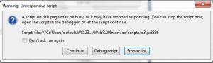 unresponsive script error