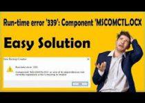 Runtime Error 339