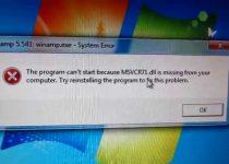 Msvcr71.dll Error Code