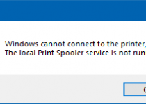 Printer Spooler Service Not Running