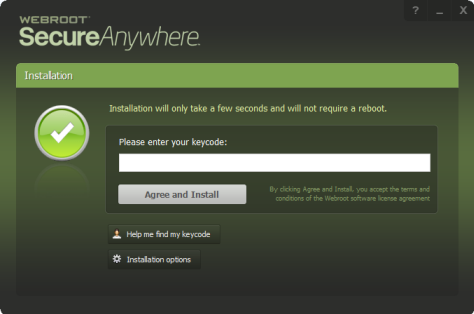Webroot Antivirus SecureAnywhere