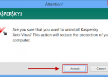 uninstall kaspersky antivirus