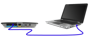 connecting laptop with internet cable