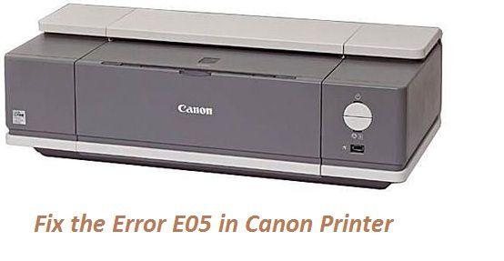 Error E05 On Canon Printer