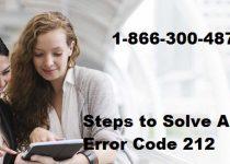 Steps to Solve AOL Error Code 212