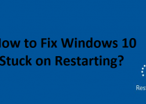 windows 10 stuck on restarting or update