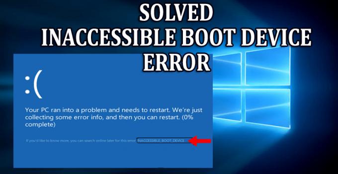 Fix Boot Device Unavailable Error on Windows 10