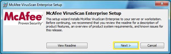McAfee Virus Scan 2017
