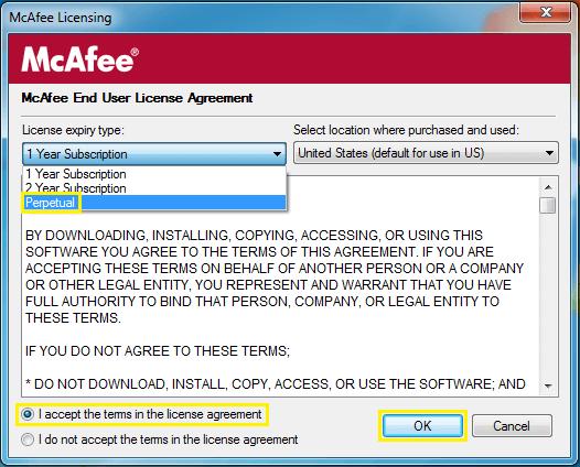 McAfee Antivirus License