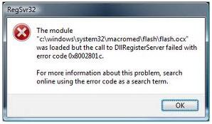 Error code 0x8002801C