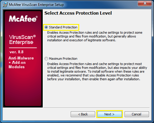 McAfee Protection 2017