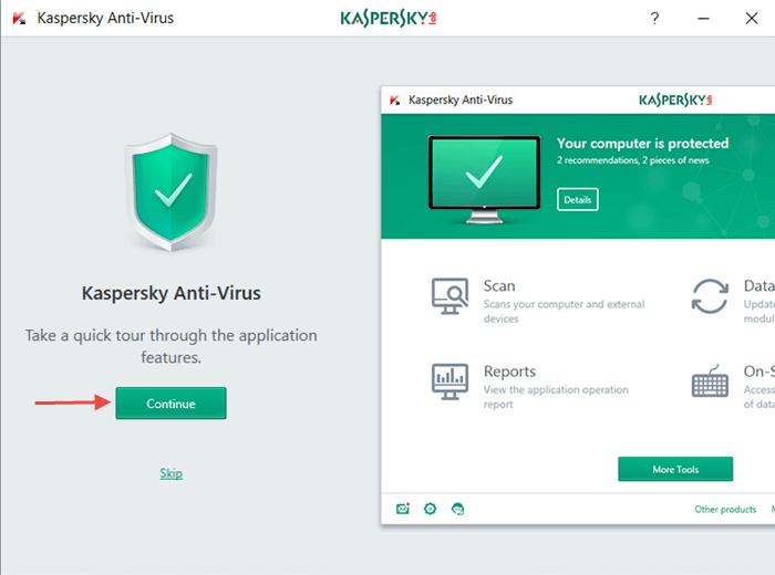 Kaspersky Internet Security 2017 windows