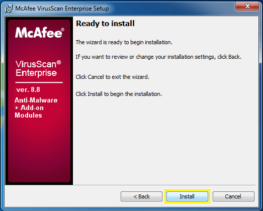 Install McAfee Total Protection