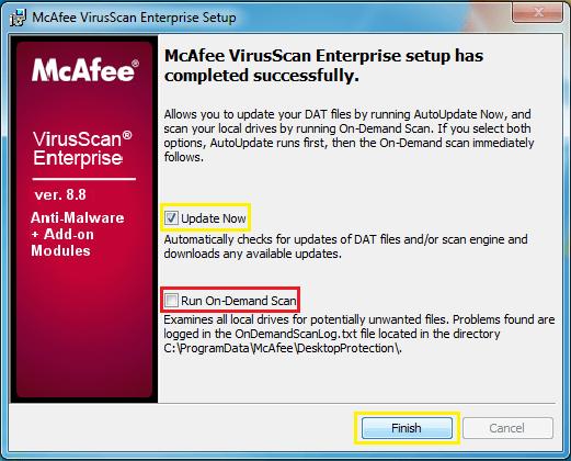 Update McAfee Antivirus