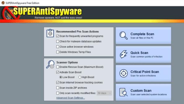 SUPER Antispyware Malware Removal Tools