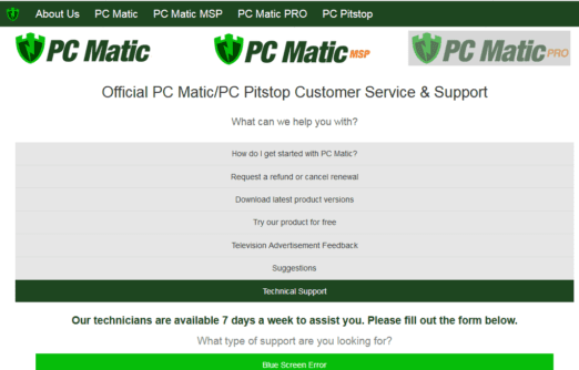 Pc matic phone number
