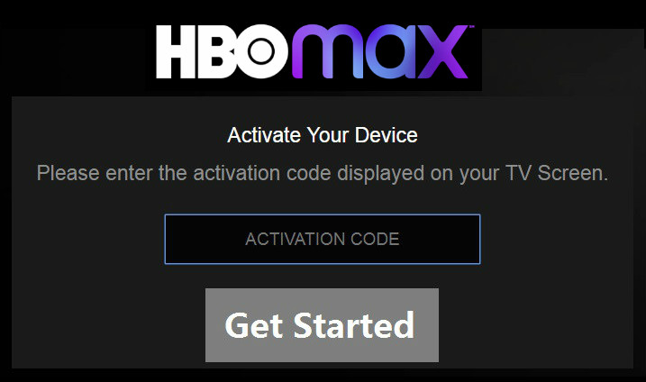 hbo max activate