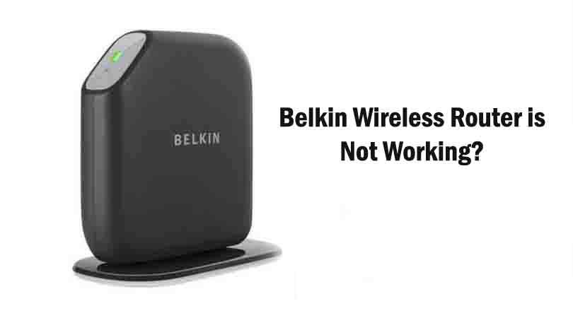 Belkin router troubleshooting