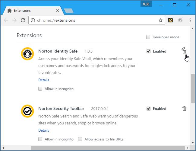 Chrome Extenstion Setting