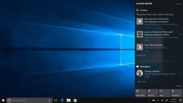 Cortana Windows 10 Creators Update