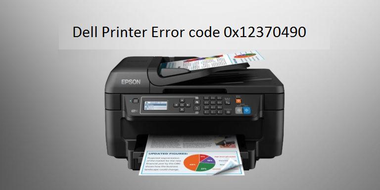 Dell Printer Error code 0x12370490