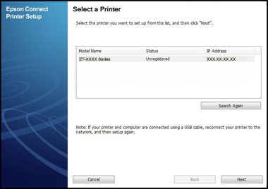 pson connect printer