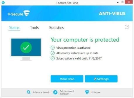 F-Secure Antivirus tool