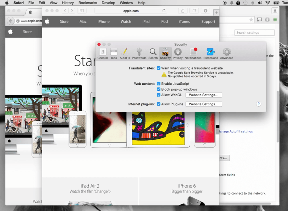 How to turn off pop up blocker on Mac 3