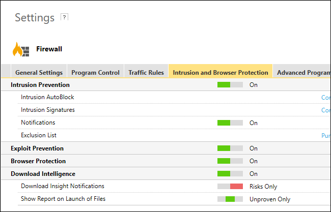 Intrusion and Browser Protection