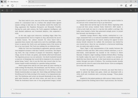 Microsoft Edge Reader