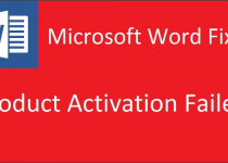 Windows Product Activation Failed
