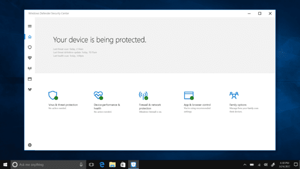 W10 Security Dashboard Laptop
