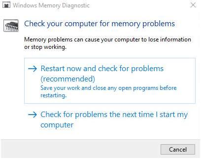 Window Memory Diagnostic