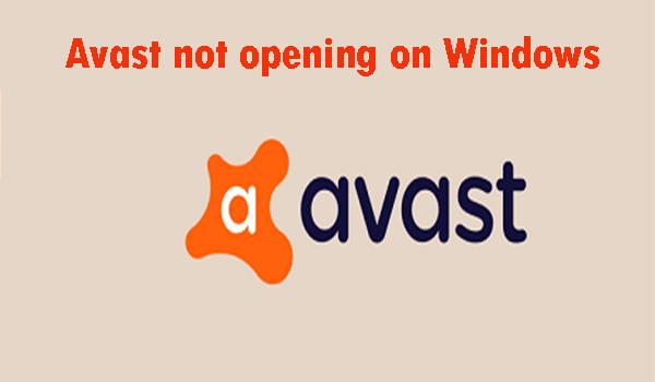 Avast Won't Open