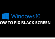 Black Screen on window 10