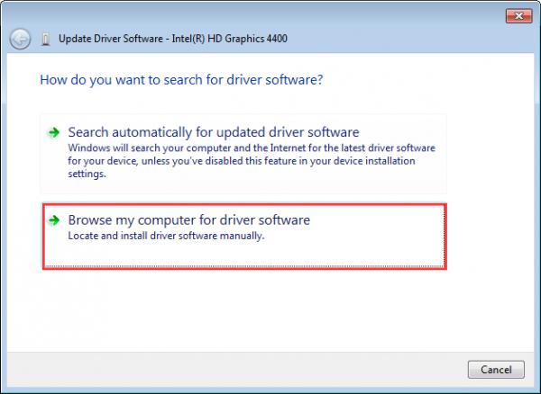 install driver windows 7