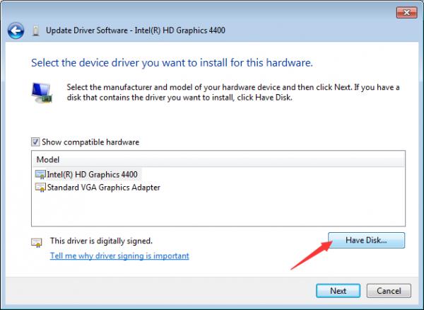 install driver windows manually