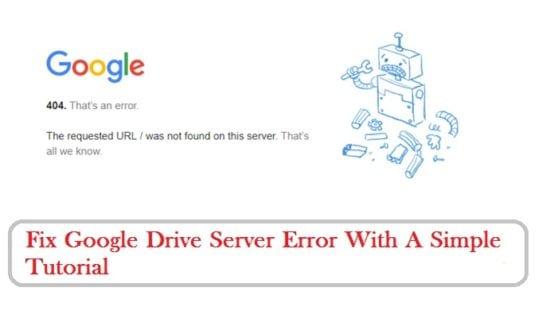 Google Drive Server Error