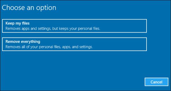 Reset Your Windows PC