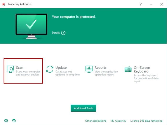 Scan with Kaspersky antivirus 2017