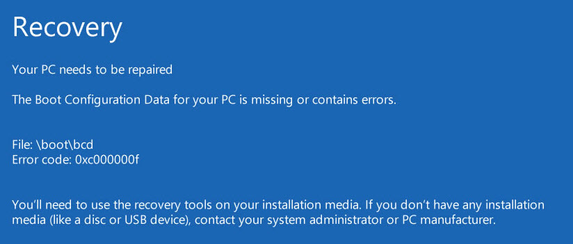 How to Fix a Boot BCD Error Window 10